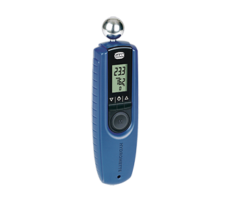 An electronic device for measuring humidity in building materials. Measuring range: 0 –100 digits. The device operates on the patented measuring principle of a high frequency dielectric constant.